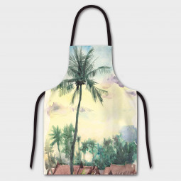 Apron - Tropical aquarelle