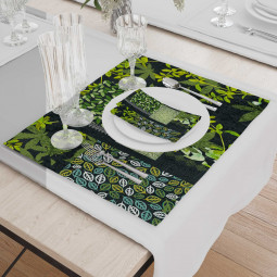 Set - Place Mats + Cloth Napkin - Mery