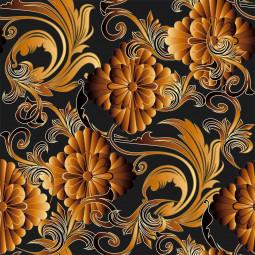 К-т подложки + салфетки - 3D цветя в оранжево