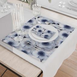 К-т подложки + салфетки - Зимни цветя