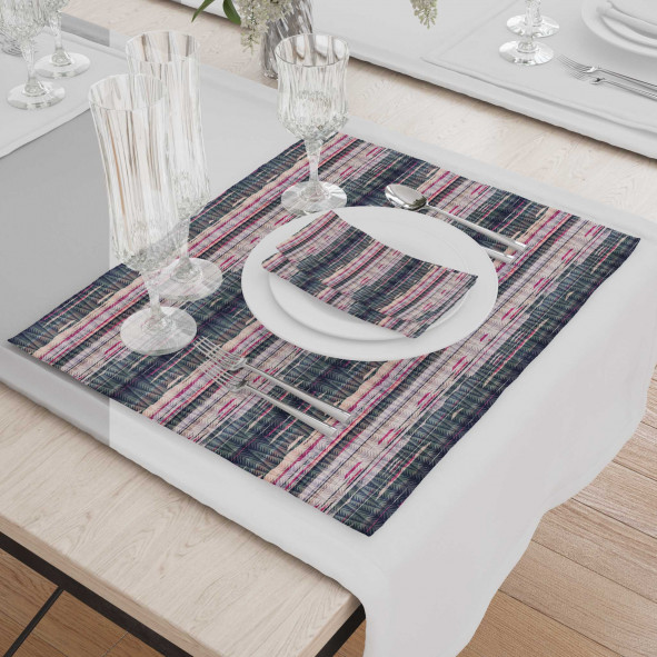 Set - Place Mats + Cloth Napkin - Non-standard