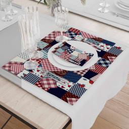 Set - Place Mats + Cloth Napkin - Made by grandma