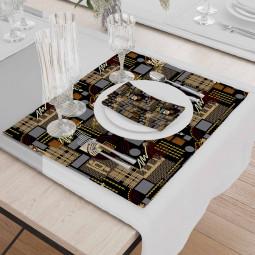 Set - Place Mats + Cloth Napkin - Electronic circuit