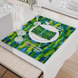 Set - Place Mats + Cloth Napkin - Tessellation