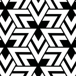 К-т подложки + салфетки - Триъгълници в черно и бяло