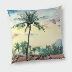 Декоративна възглавница - Тропически акварел