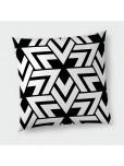 Декоративна възглавница с цип - Триъгълници в черно и бяло