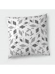 Декоративна възглавница с цип - Геометрия в бяло