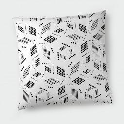 Декоративна възглавница - Геометрия в бяло