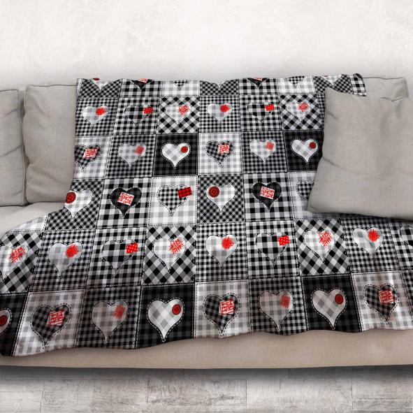 Одеяло - Черно-бели Сърчица