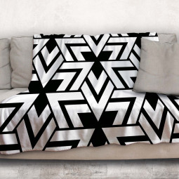 Одеяло - Триъгълници в черно и бяло