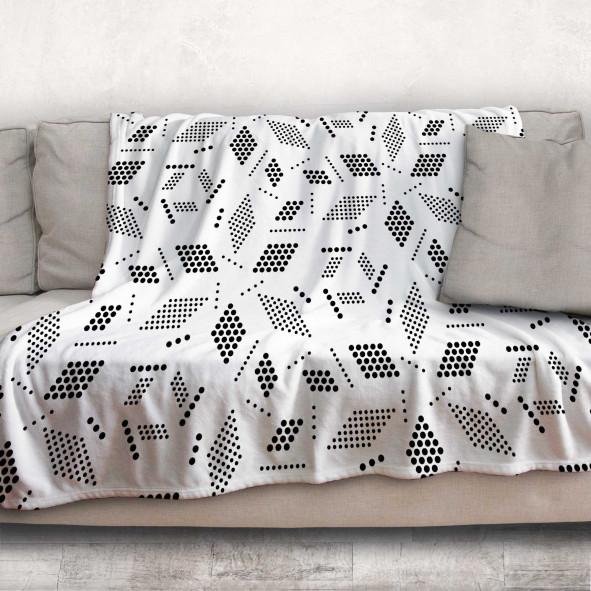 Одеяло - Геометрия в бяло