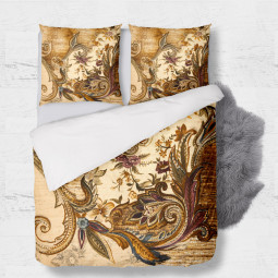 Set - duvet Cover + 2pc shams - Retro wallpaper