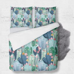Set - duvet Cover + 2pc shams - Cactus