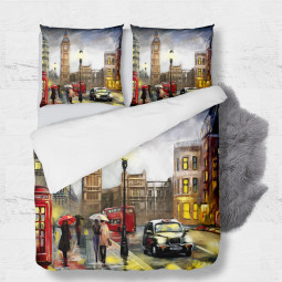 Set - duvet Cover + 2pc shams - London
