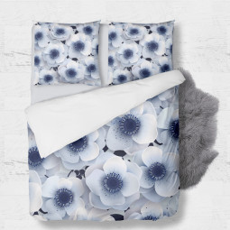 Set - duvet Cover + 2pc shams - Winter Flowers
