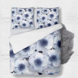 К-т плик + 2бр. калъфки - Зимни цветя