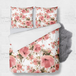 Set - duvet Cover + 2pc shams - Poppy garden