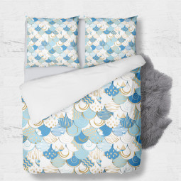 Set - duvet Cover + 2pc shams - Abstract sky
