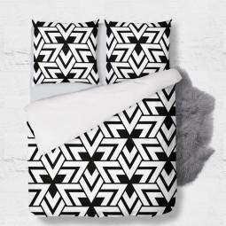 К-т плик + 2бр. калъфки - Триъгълници в черно и бяло