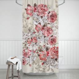 Завеса за баня - Старинна роза