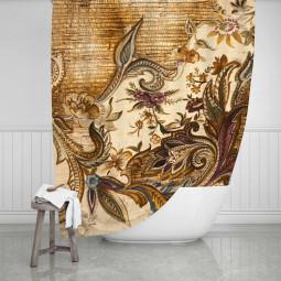 Завеса за баня - Ретро тапет