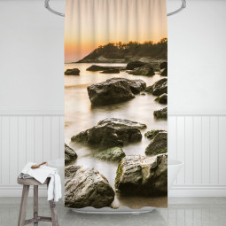 Shower Curtains - Rocky coast