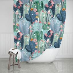 Завеса за баня - Кактус