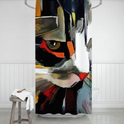 Завеса за баня - Котешко лице