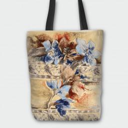 Текстилна торбичка - Есенни пастели