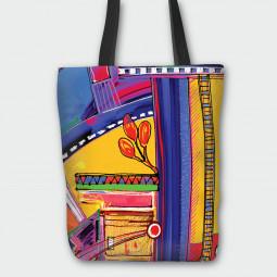 Текстилна торбичка - Пъстър свят