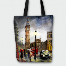 Текстилна торбичка - Лондон