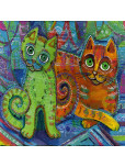 Текстилна торбичка - Арт котета