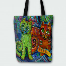 Tote Bag - Art kittens