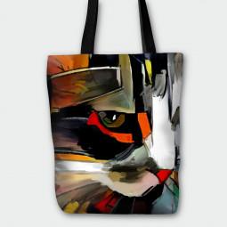 Tote Bag - Cat half face