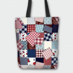 Текстилна торбичка - Изработено от баба