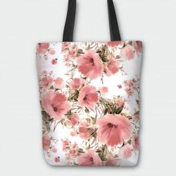 Текстилна торбичка - Макова градина