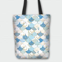 Текстилна торбичка - Абстрактно небе
