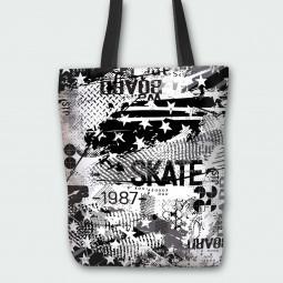Текстилна торбичка - Скейтборд