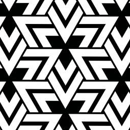 Текстилна торбичка - Триъгълници в черно и бяло