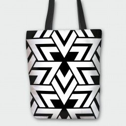 Tote Bag - Triangles in black and white