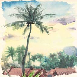 Мешка - Тропически акварел