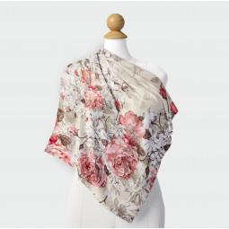 Scarf shifon - Vintage rose