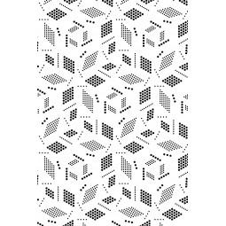 Шал шифон - Геометрия в бяло