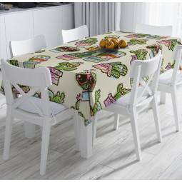 Покривка за маса - Весели кактуси
