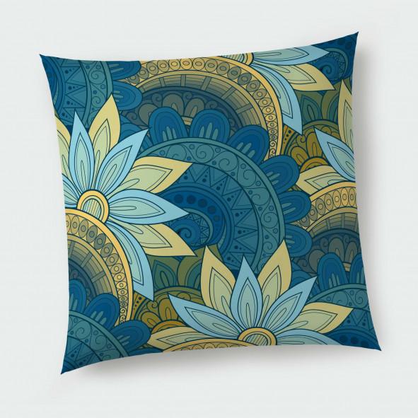 Декоративна възглавница с цип - Арт цветя