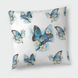 Декоративна възглавница с цип - Пеперуди
