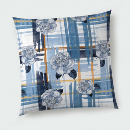 Декоративна възглавница с цип - Сини рози