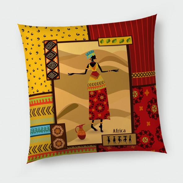 Декоративна възглавница с цип - Африка