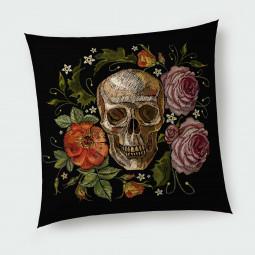 Декоративна възглавница с цип - Рози и мрак